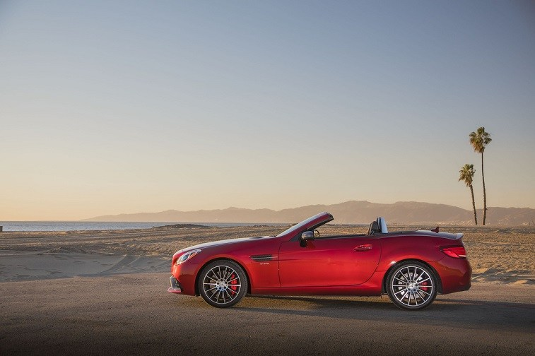 Mercedes-AMG SLC43 Roadster in red
