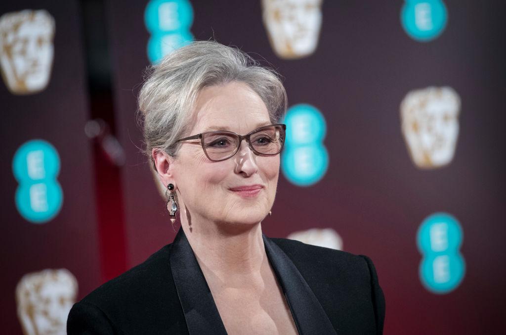 Meryl Streep attends the 70th EE British Academy Film Awards.