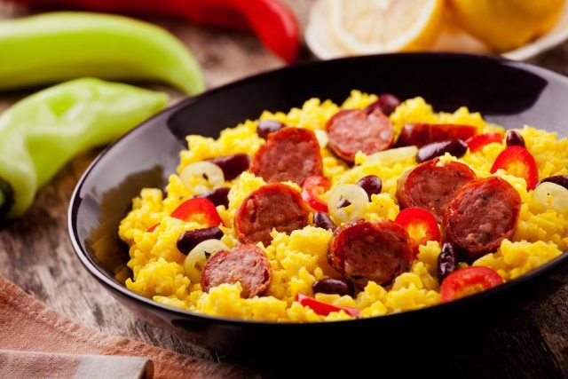 Chorizo is a sausage high in sodium.