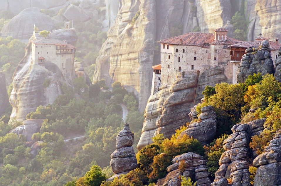 Monasteries suspended in the air, Greece