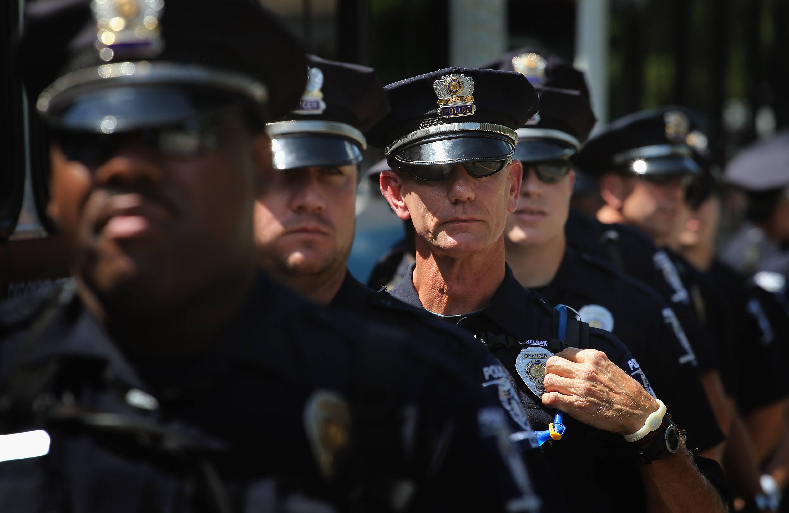 Police officers in Charlotte
