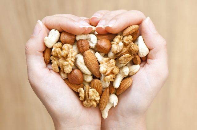 Nuts are healthy carbs packed with protein and good fats.