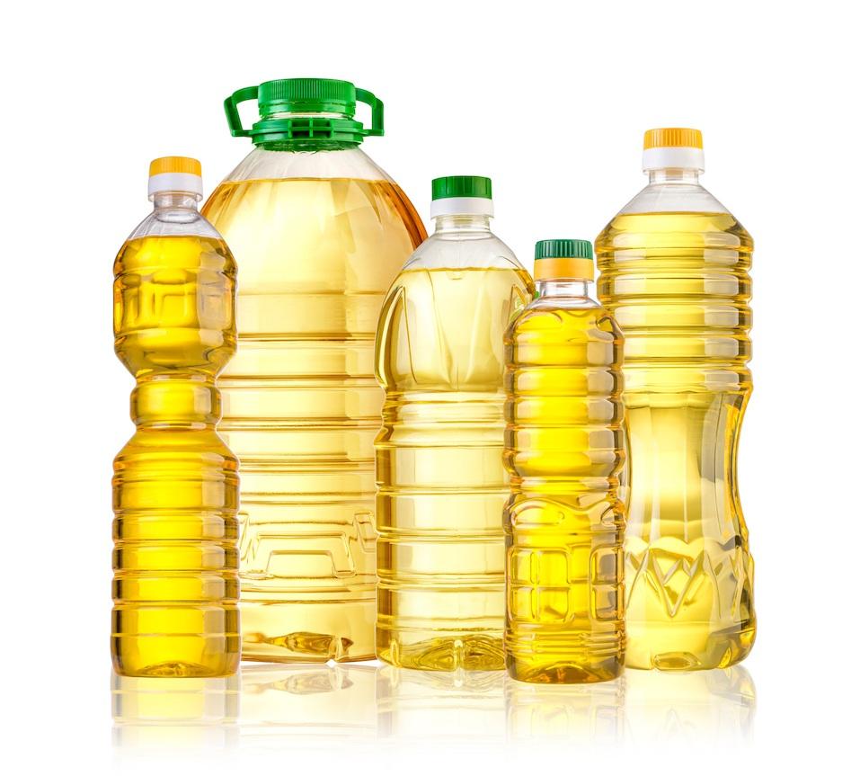Bottles of oil