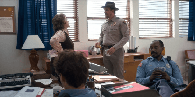 On 'Stranger Things,' Detective Hopper tells Flo that mornings are for 'coffee and contemplation'