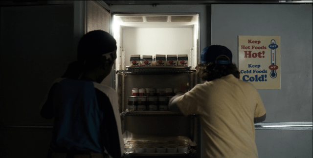 On 'Stranger Things,' Lucas and Dustin raid the cafeteria for chocolate pudding