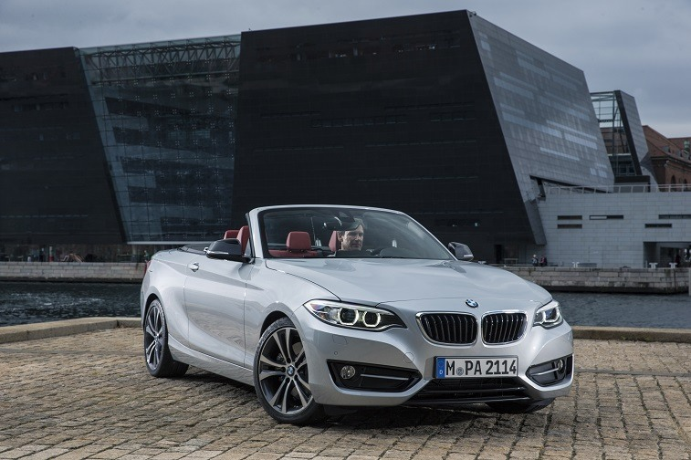 Silver BMW 2-Series Convertible