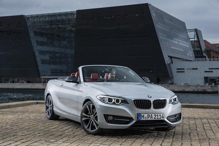 Silver BMW 2-Series Convertible