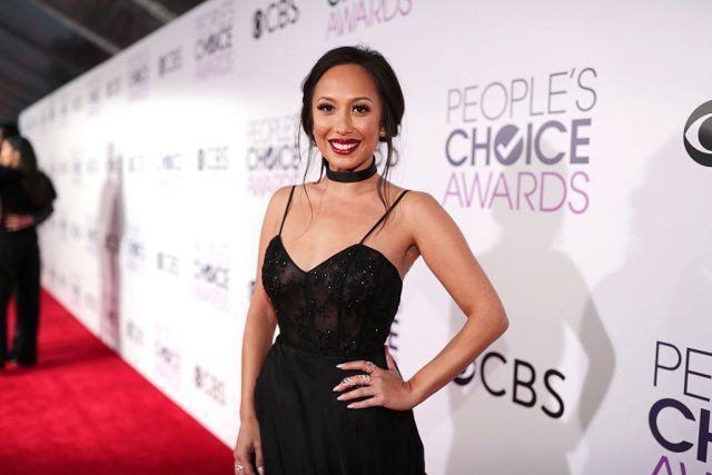 Dancer Cheryl Burke on a red carpet