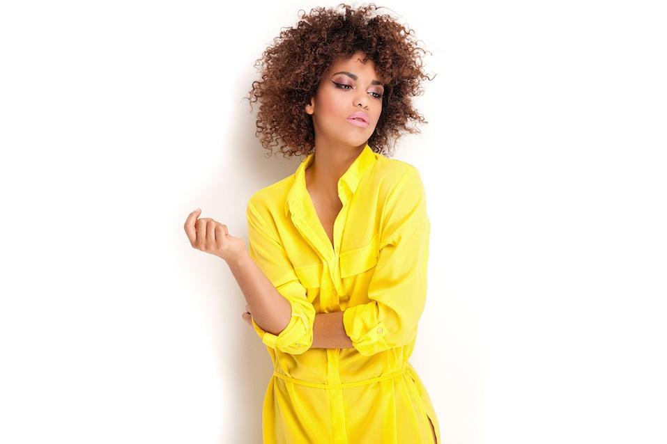 Yellow fashionable dress