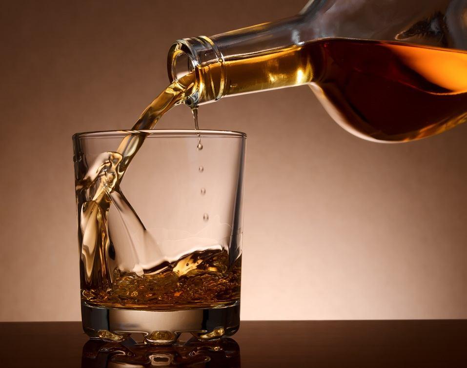 malt whiskey in a glass