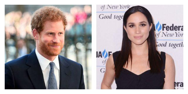 This is a side by side picture of Prince Harry and Meghan Markle.