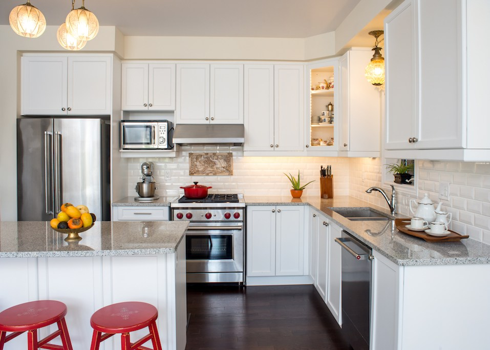 Professionally designed new white kitchen