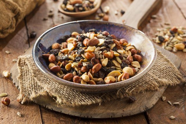 High-protein foods like trail mixes are the perfect post-workout snack.