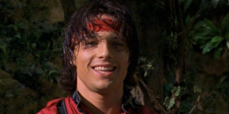 Ricardo Medina Jr. is in a red samurai costume and smiling