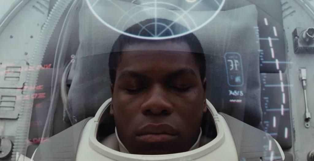 Finn in recovery in Star Wars: The Last Jedi