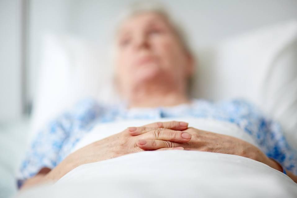 Senior woman in hospital