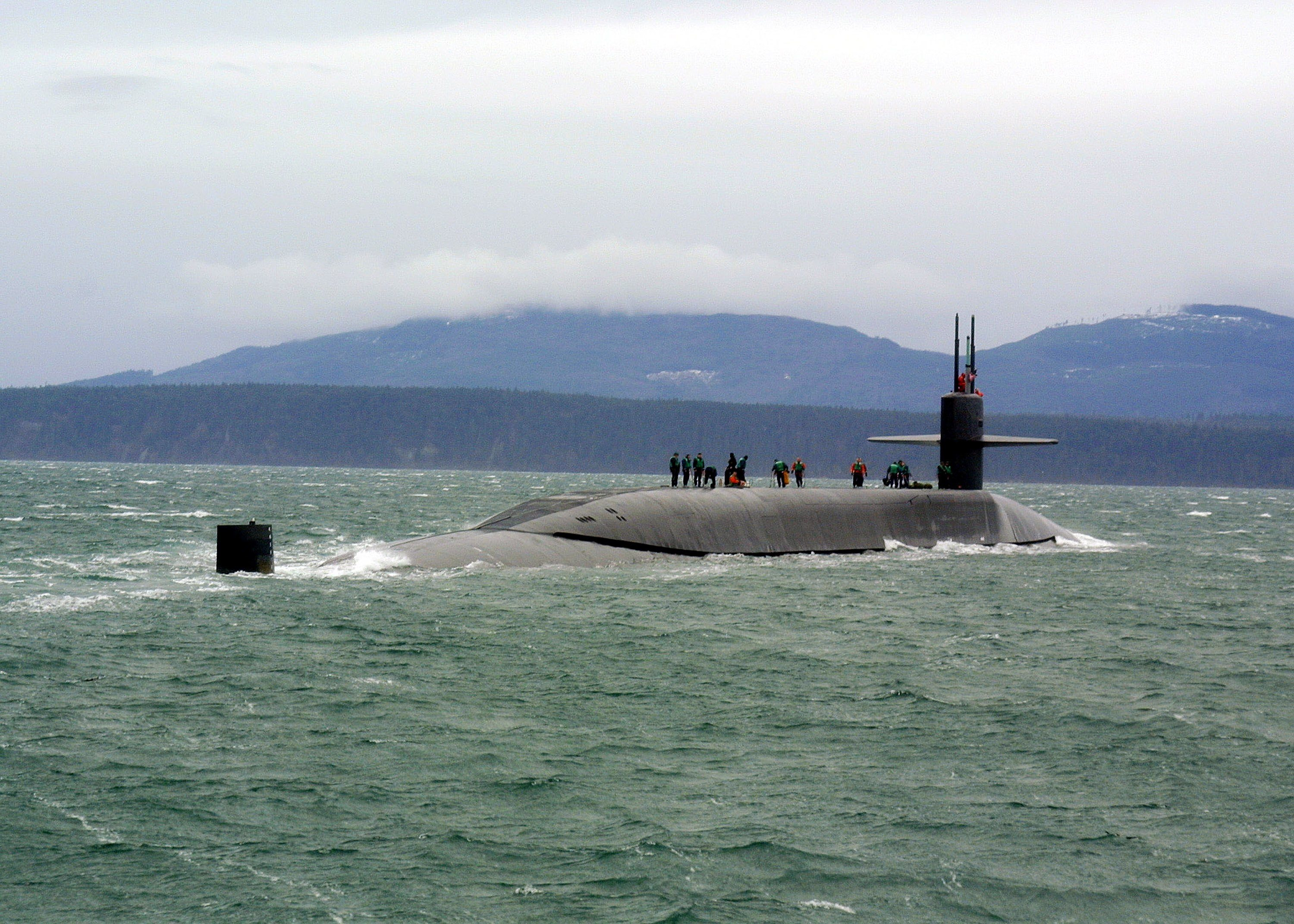 The guided-missile submarine USS Ohio in the Puget Sound