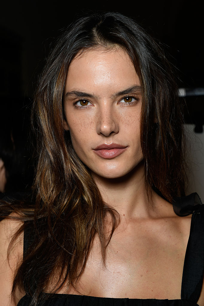 Supermodel Alessandra Ambrosio is seen backstage