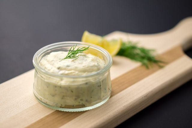 Stay away from tartar sauce if you're on a diet.