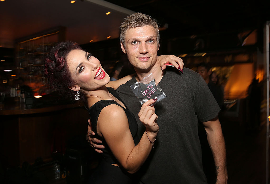 Sharna Burgess and singer Nick Carter