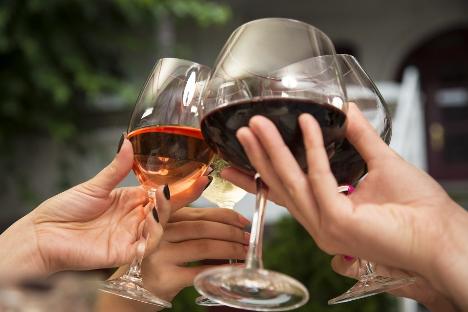 people holding wine