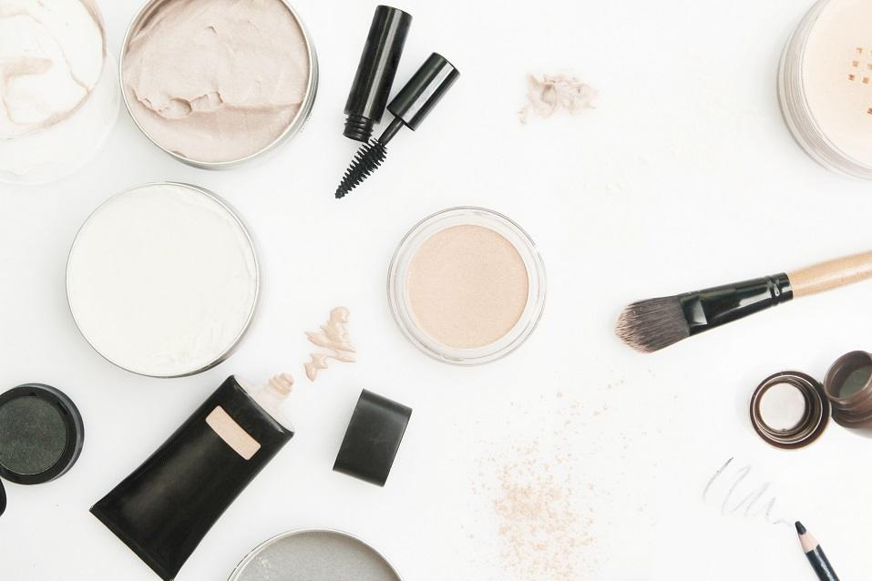 different cosmetics products