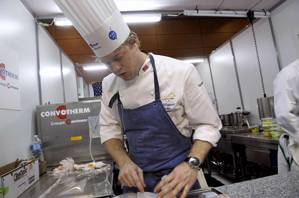 Chef Timothy Hollingsworth prepares a dish.