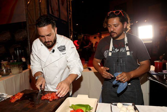 two chefs cooking
