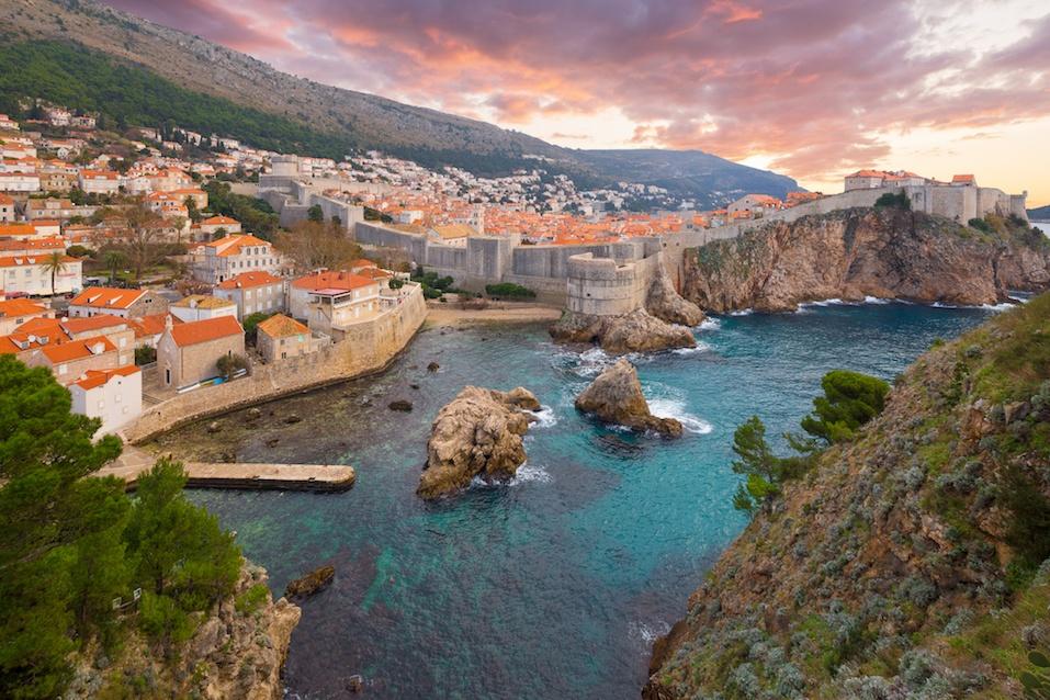 View of ancient castle in Dubrovnik, Croatia
