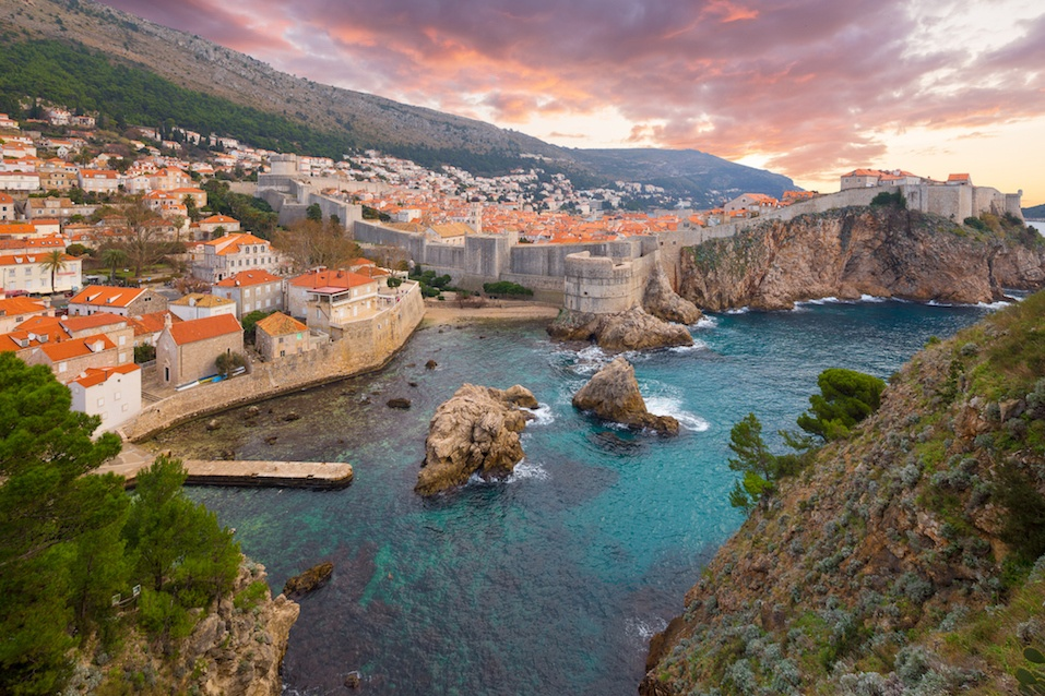 View of ancient castle in Dubrovnik, Croatia