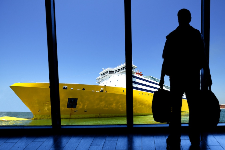 Waiting for cruise ship departure