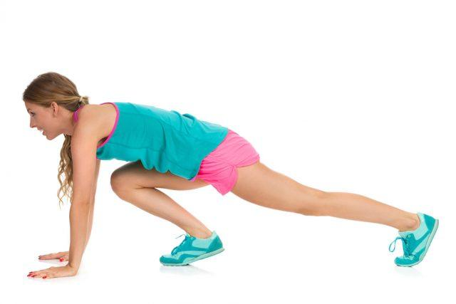 Woman Doing Mountain Climber Exercise