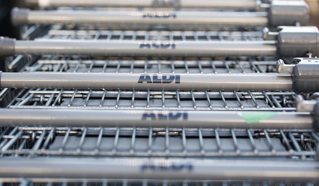 Shopping carts at Aldi