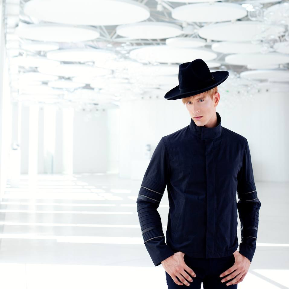 Black far west modern fashion man