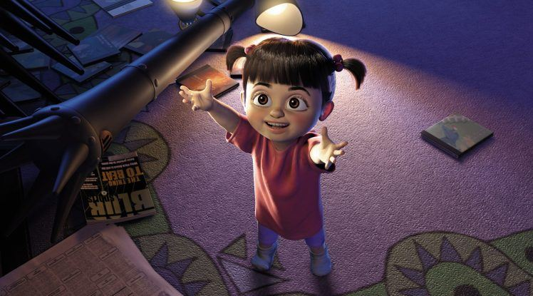 A young Boo in Monsters Inc wth her hands out