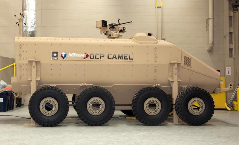 A Camel MRAP concept vehicle.