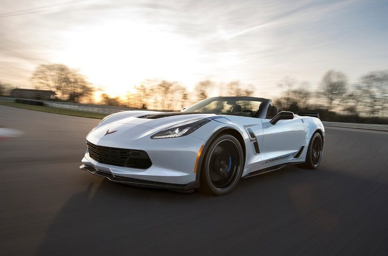 Chevrolet Corvette Convertible with the top down