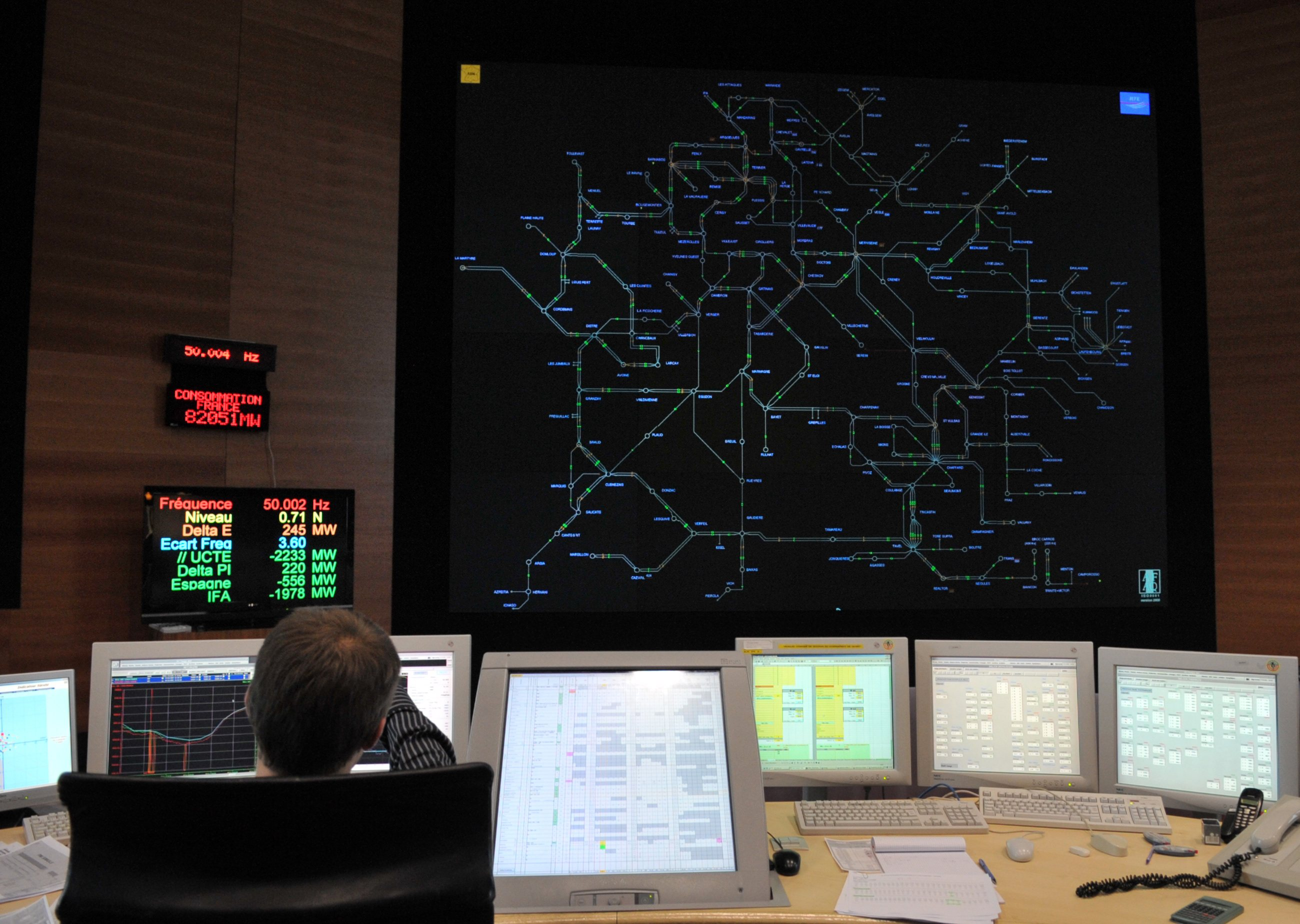 A dispatcher at work