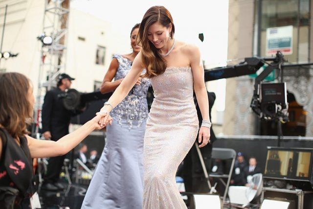 Jessica Biel on the Oscars red carpet