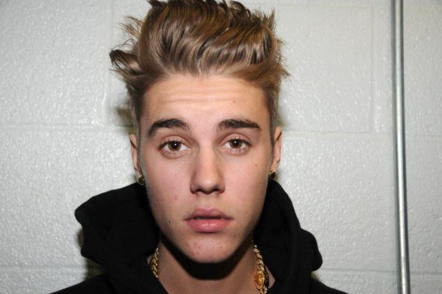 Justin Bieber stares into the camera in a photo taken by the Miami Beach Police Department.