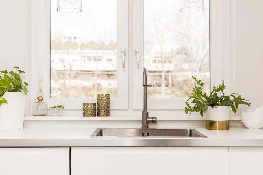 kitchen sink in a fancy kitchen