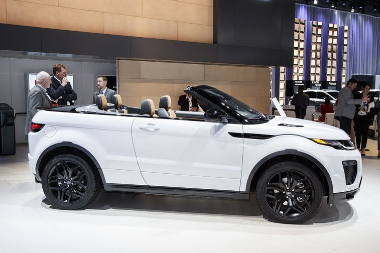 Land Rover Range Rover Evoque convertible on display