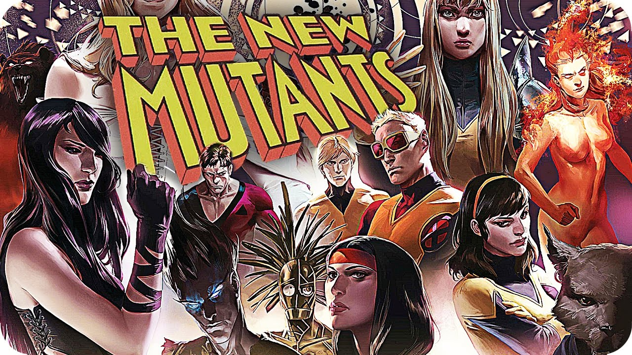 The cover of a The New Mutants issue