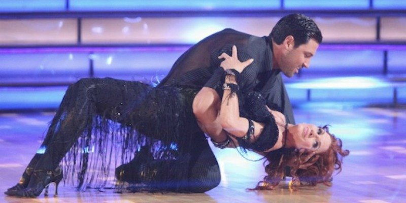 Maksim Chmerkovskiy is sipping Melissa Gilbert on the dance floor.