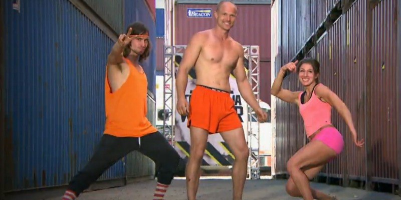 Party Time is posing together on Team Ninja Warrior.
