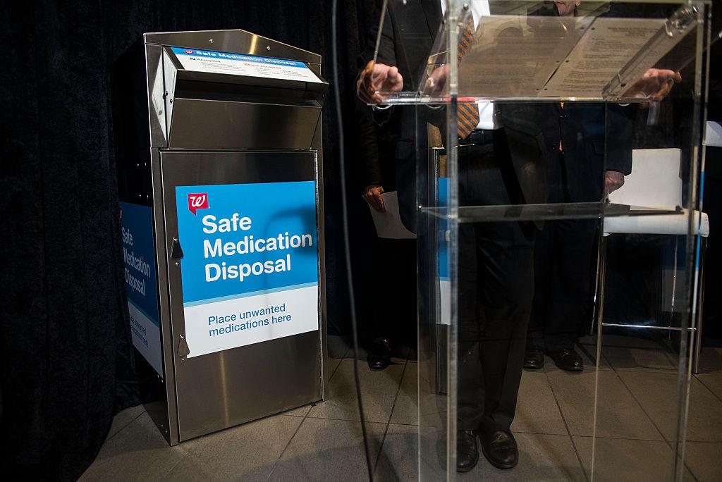 safe medication disposal bin