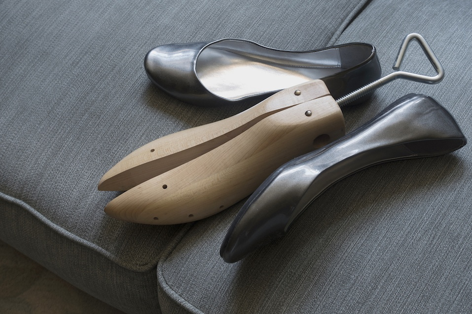 shoes with shoe stretcher