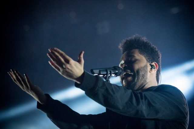 The Weeknd performs at Lollapalooza Brazil day 2 at Autodromo de Interlagos on March 26, 2017 in Sao Paulo, Brazil.