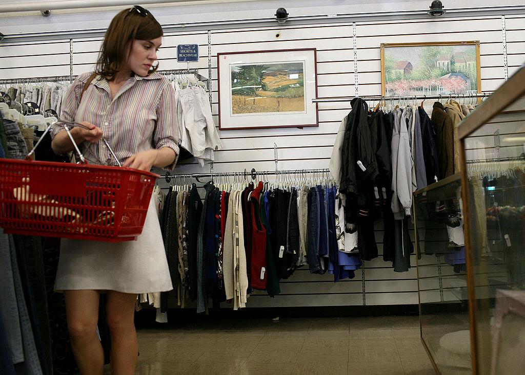 thrift store shopper