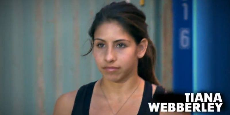 This is a closeup of Tiana Webberly in a black tank top.
